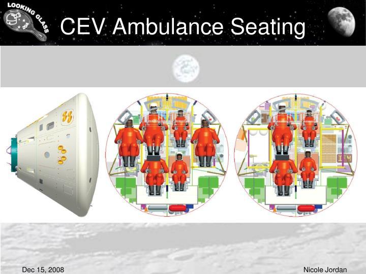 CEV Ambulance Seating