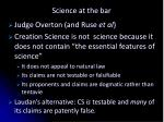 science at the bar7