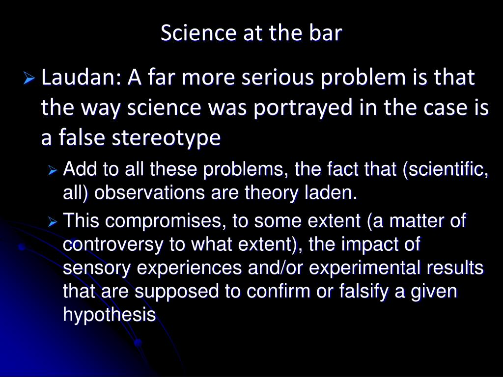 Science at the bar