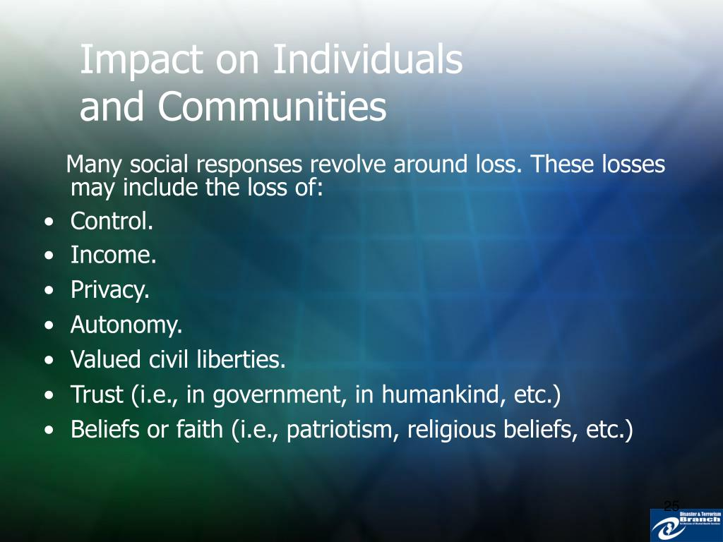Impact on Individuals and Communities