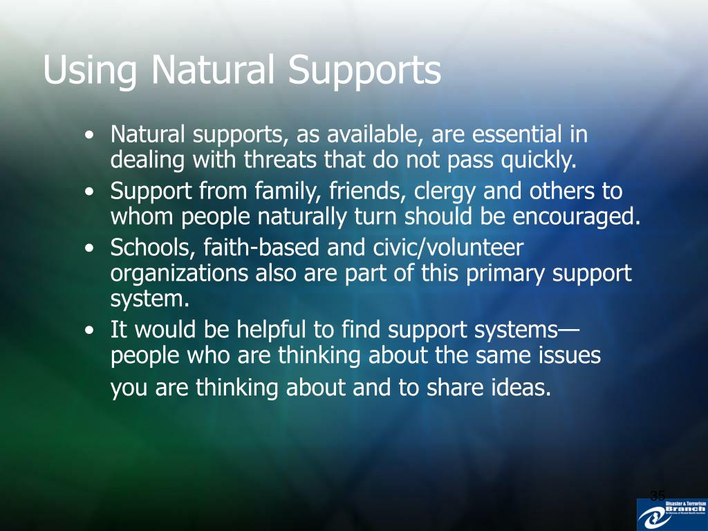 Using Natural Supports