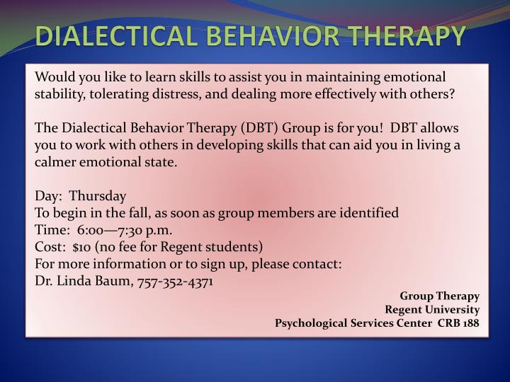 dialectical behavior therapy th therapy n.
