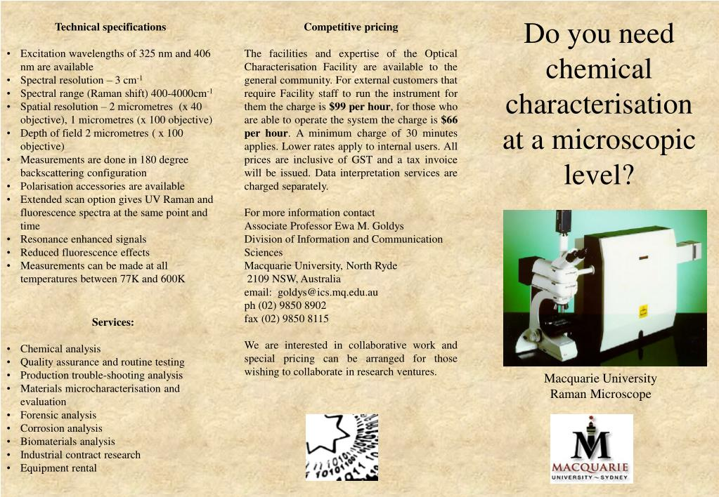 Do you need chemical characterisation at a microscopic level?