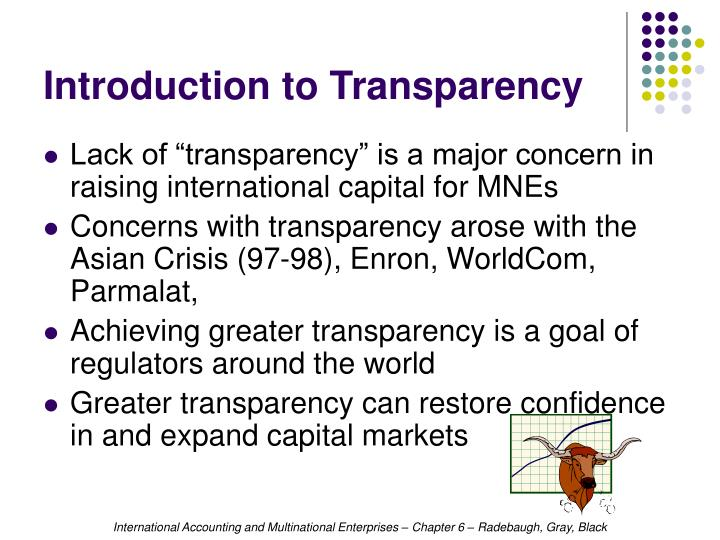 Introduction to transparency