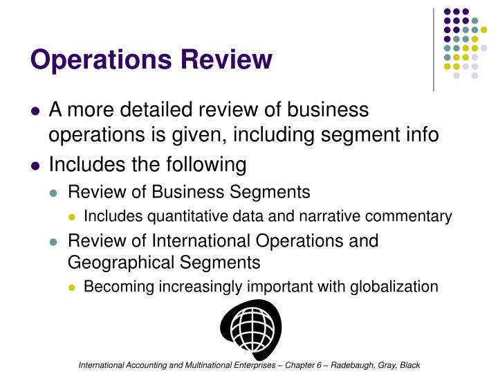 Operations Review