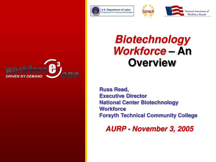 biotechnology workforce an overview n.