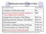 a massachusetts punitive index