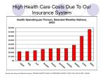 high health care costs due to our insurance system
