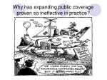 why has expanding public coverage proven so ineffective in practice