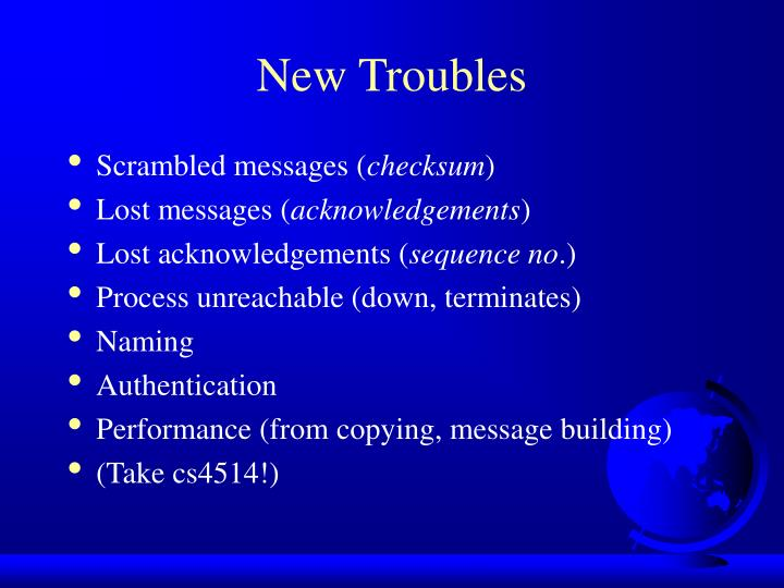 New Troubles