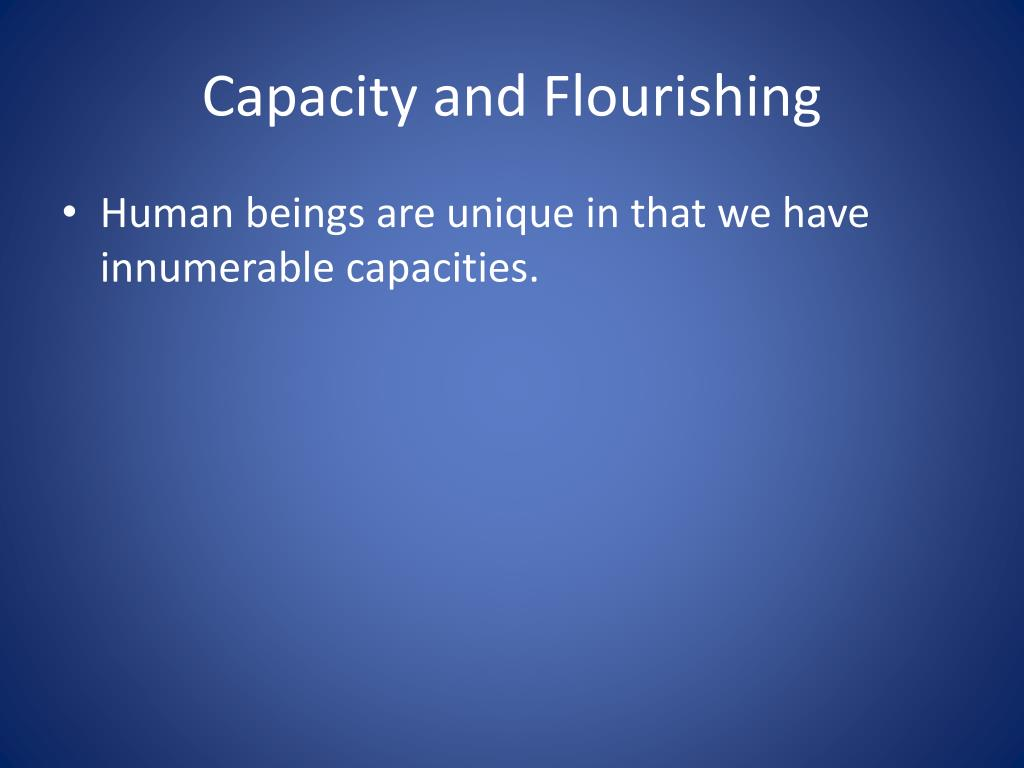 Capacity and Flourishing