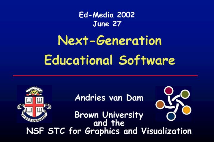 Next generation educational software