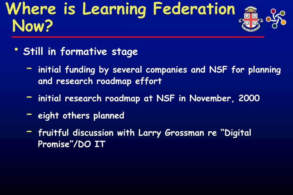 Where is Learning Federation