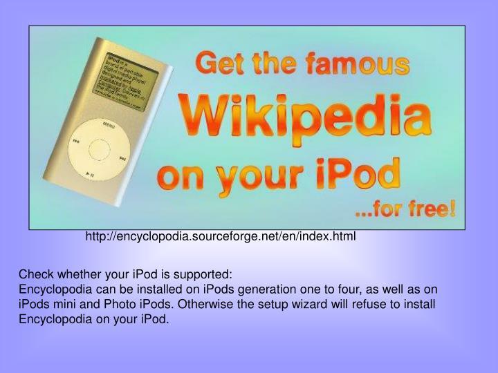 http://encyclopodia.sourceforge.net/en/index.html