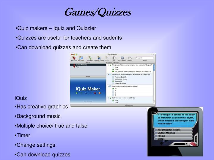 Games/Quizzes