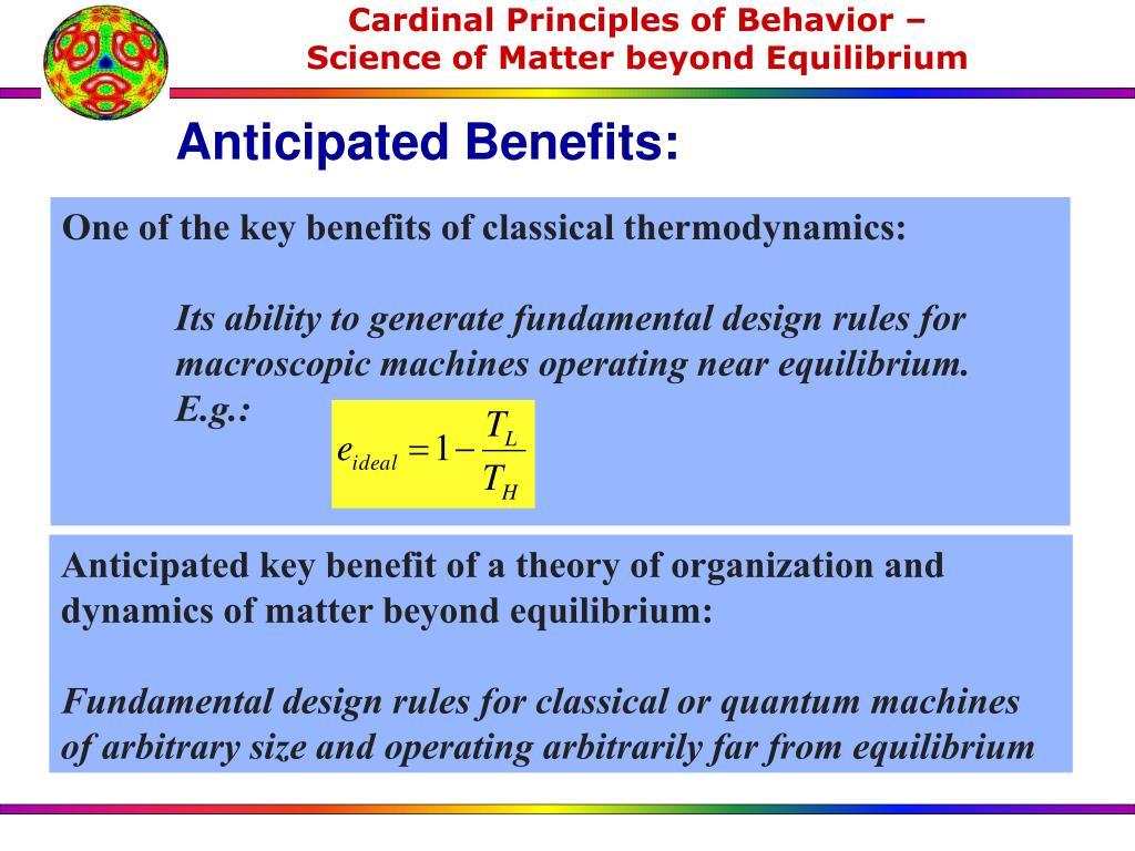 Anticipated Benefits: