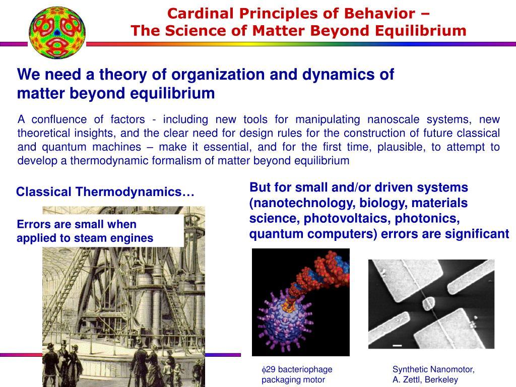 Cardinal Principles of Behavior –