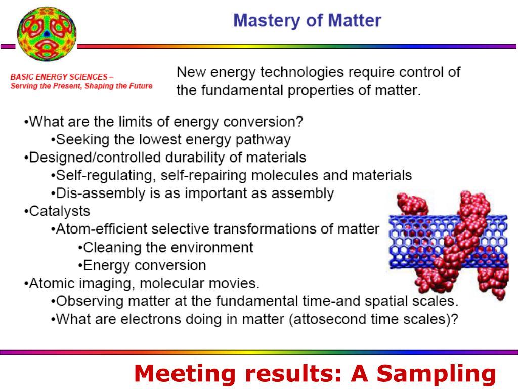 Meeting results: A Sampling