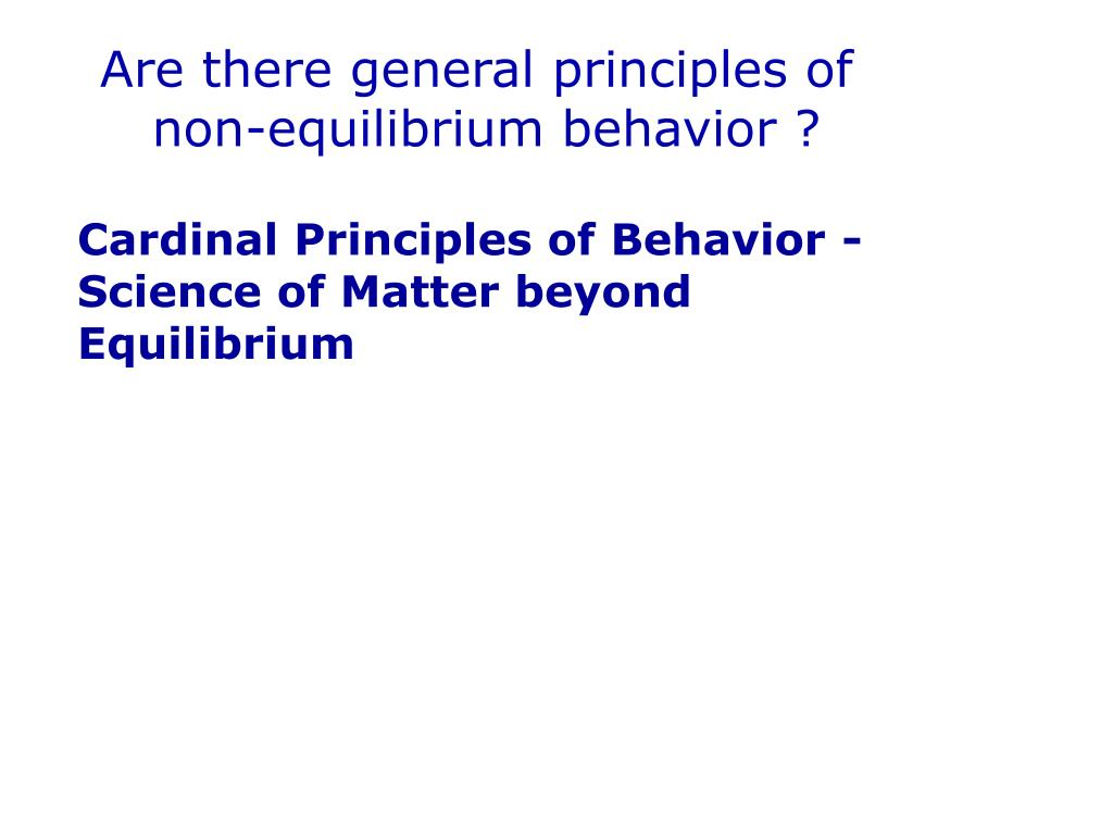 Are there general principles of