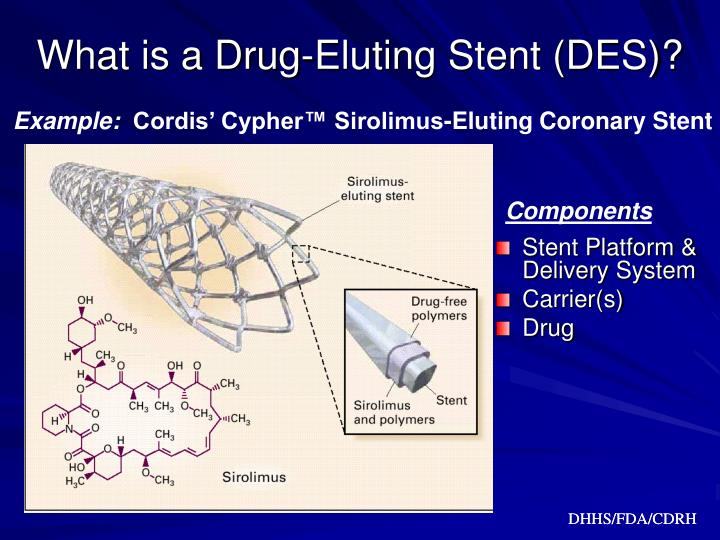 What is a drug eluting stent des