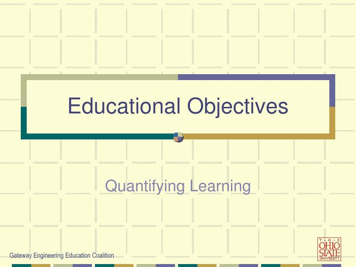 educational objectives n.