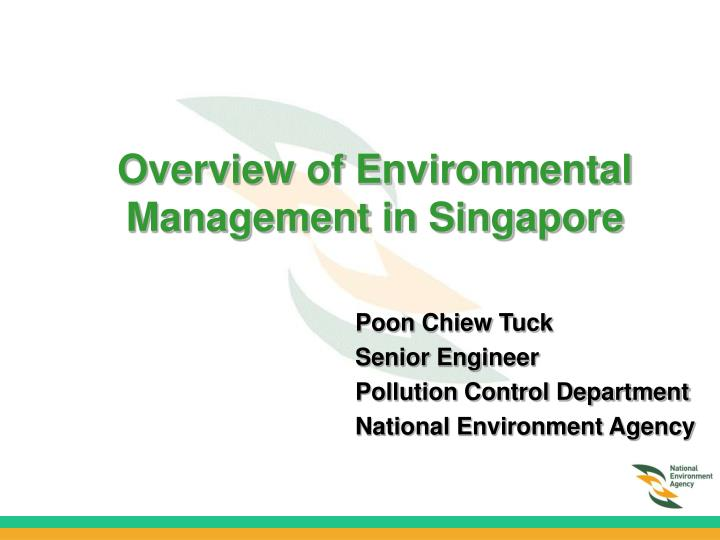 overview of environmental management in singapore n.