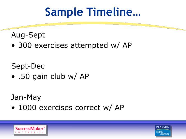 Sample Timeline…