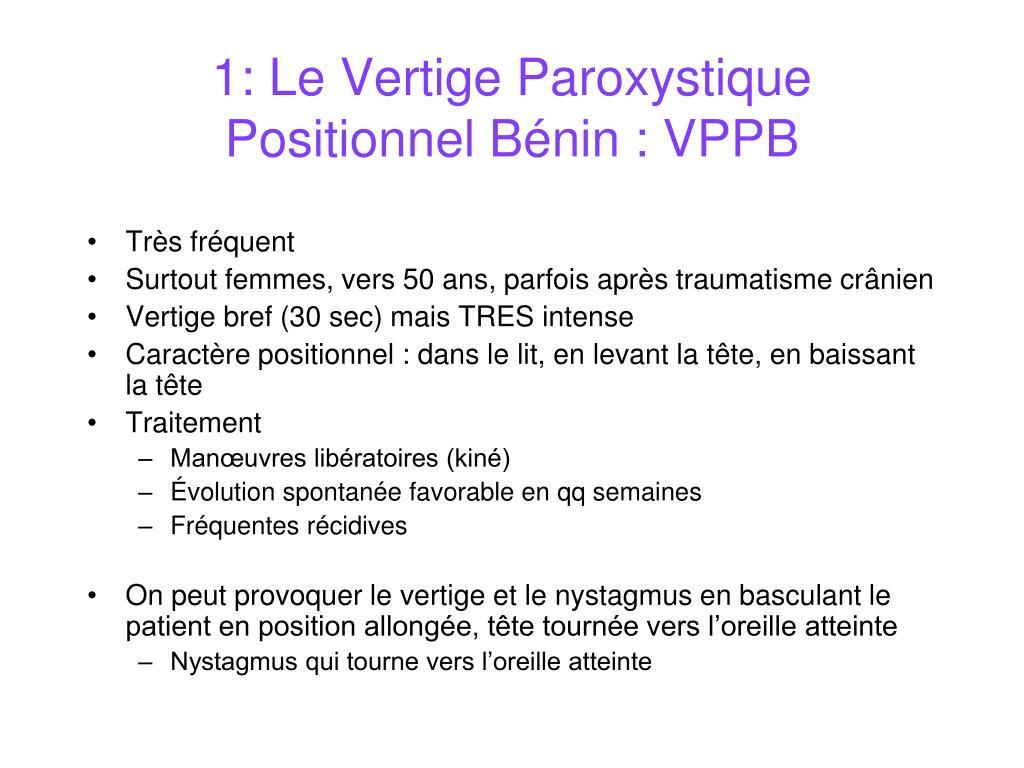 PPT - Vertiges et troubles de l'équilibre PowerPoint Presentation ...