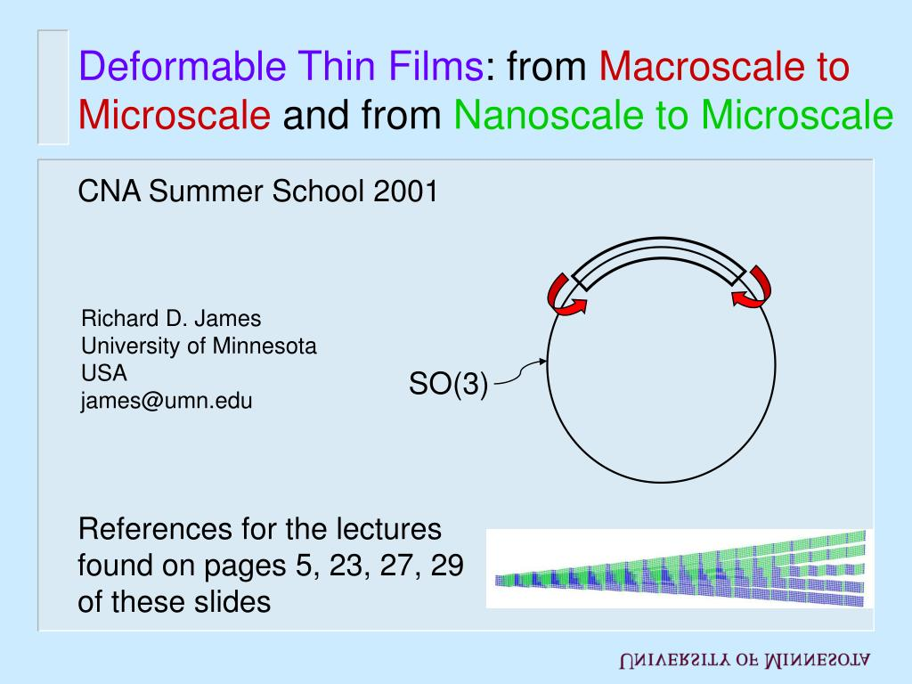 deformable thin films from macroscale to microscale and from nanoscale to microscale l.
