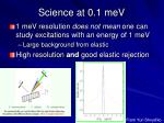 science at 0 1 mev