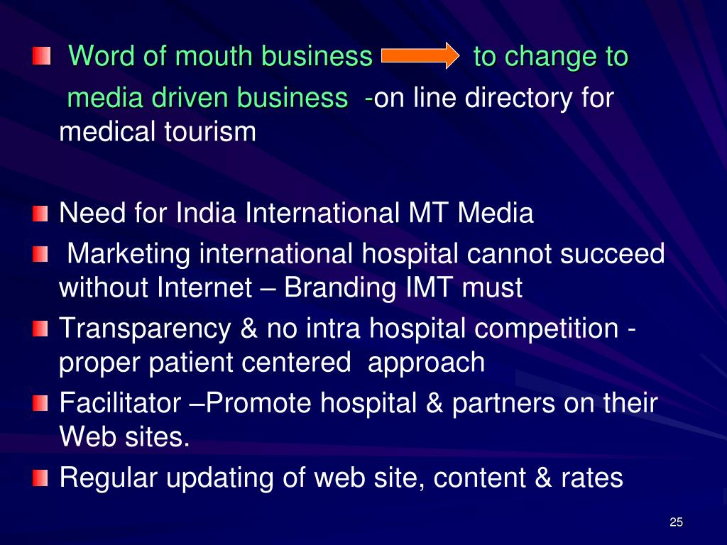 Word of mouth business           to change to
