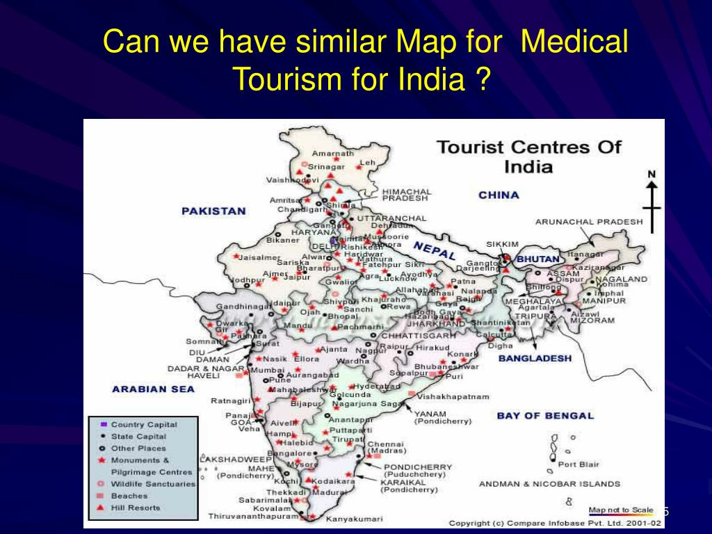 Can we have similar Map for  Medical Tourism for India ?