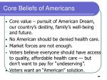 core beliefs of americans
