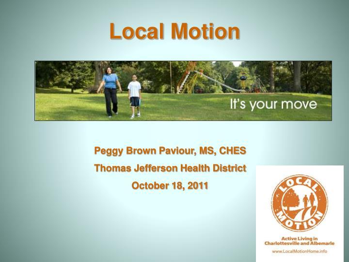local motion n.