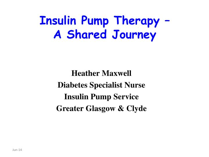 insulin pump therapy a shared journey n.