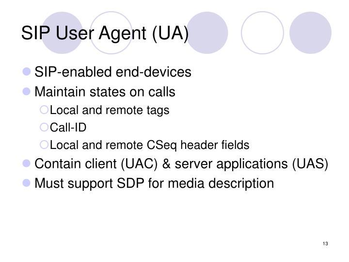 SIP User Agent (UA)