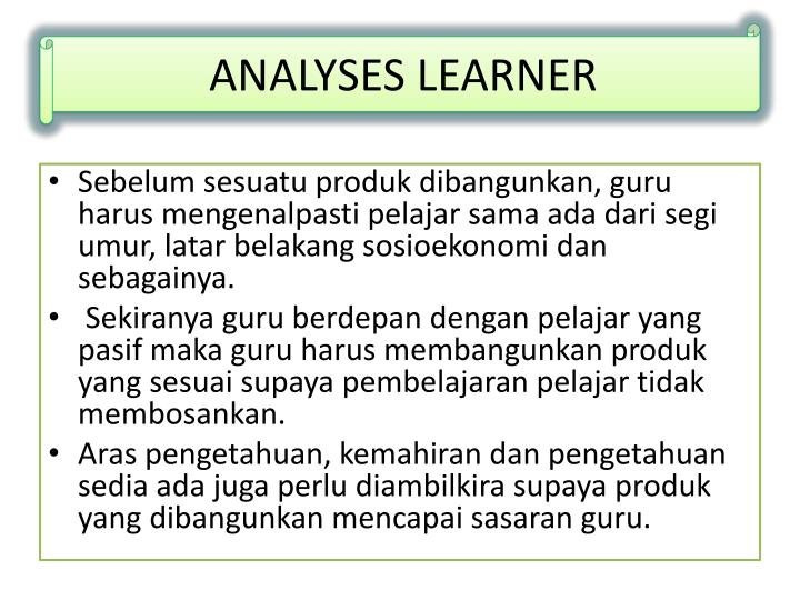 ANALYSES LEARNER