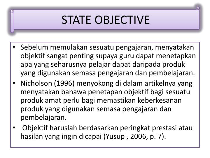 STATE OBJECTIVE