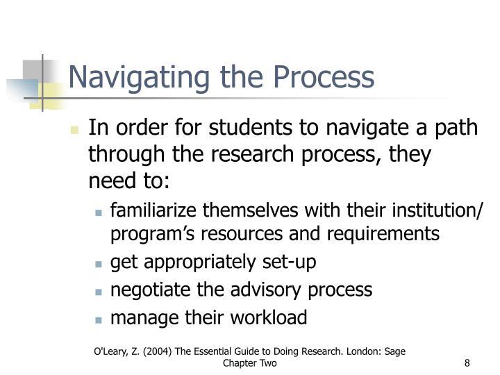 Navigating the Process