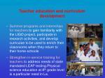 teacher education and curriculum development