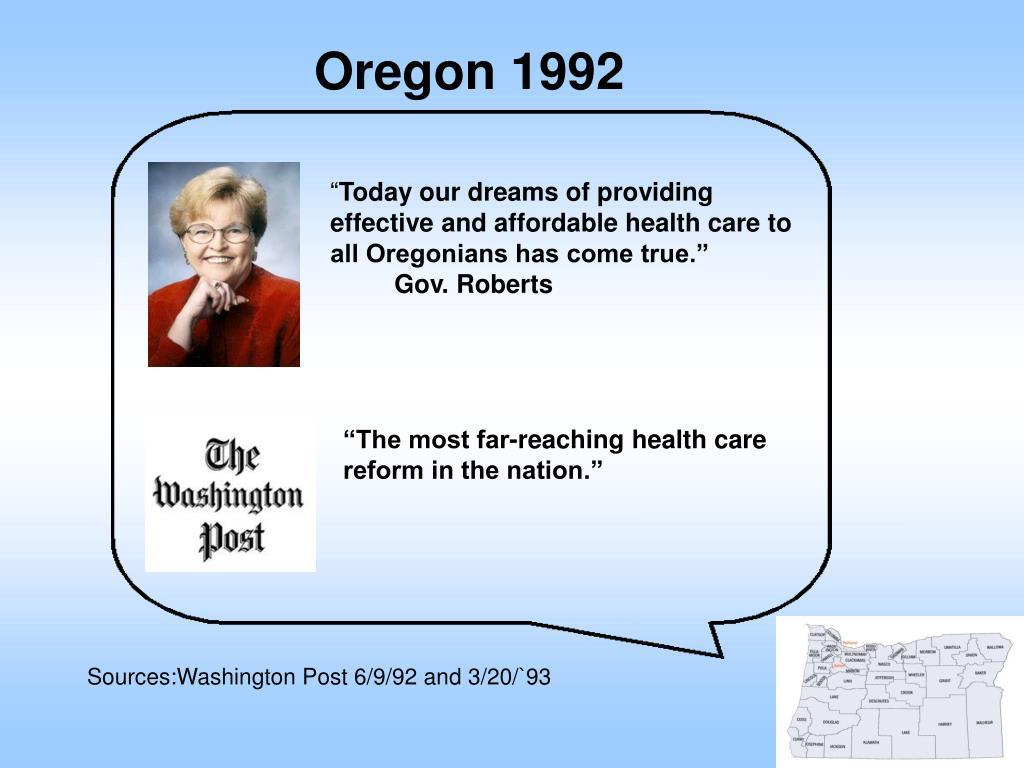 Oregon 1992
