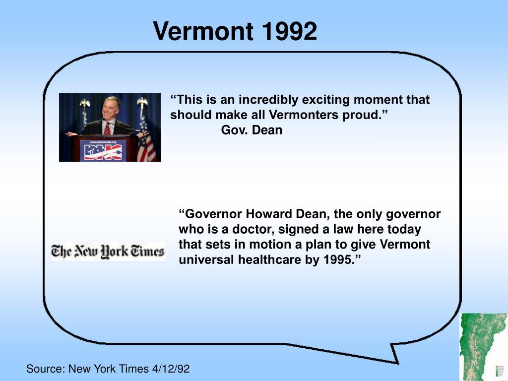Vermont 1992
