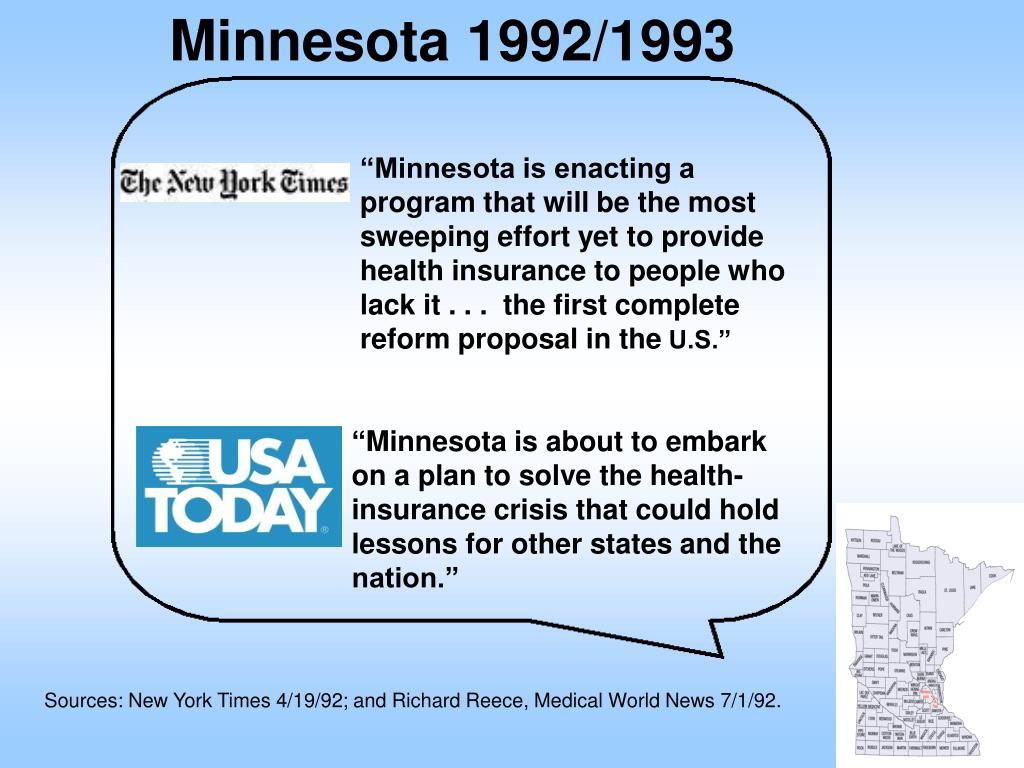 Minnesota 1992/1993