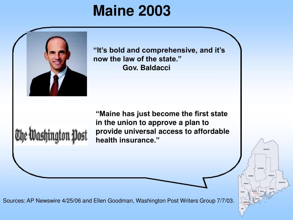 Maine 2003