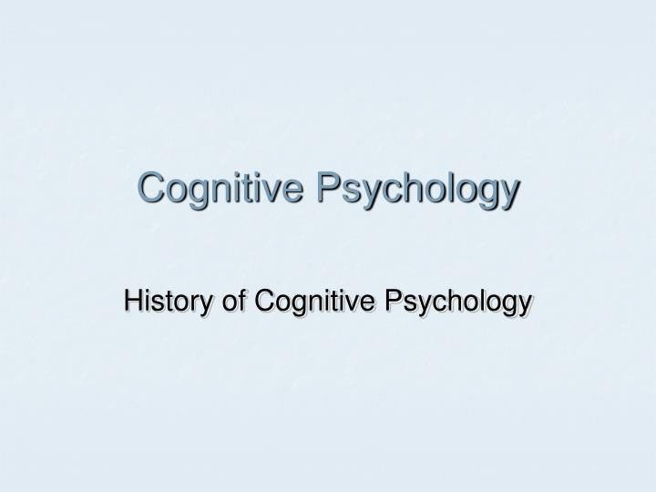 cognitive psychology n.