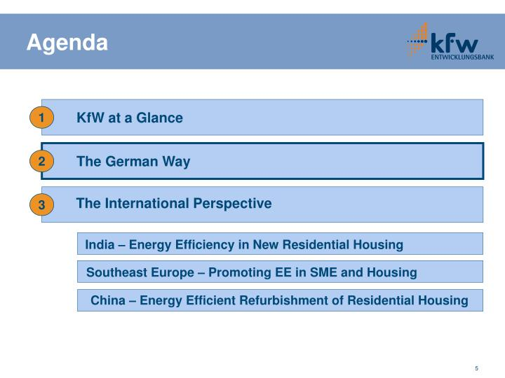 KfW at a Glance