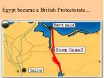 egypt became a british protectorate