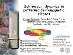 soliton pair dynamics in patterned ferromagnetic ellipses
