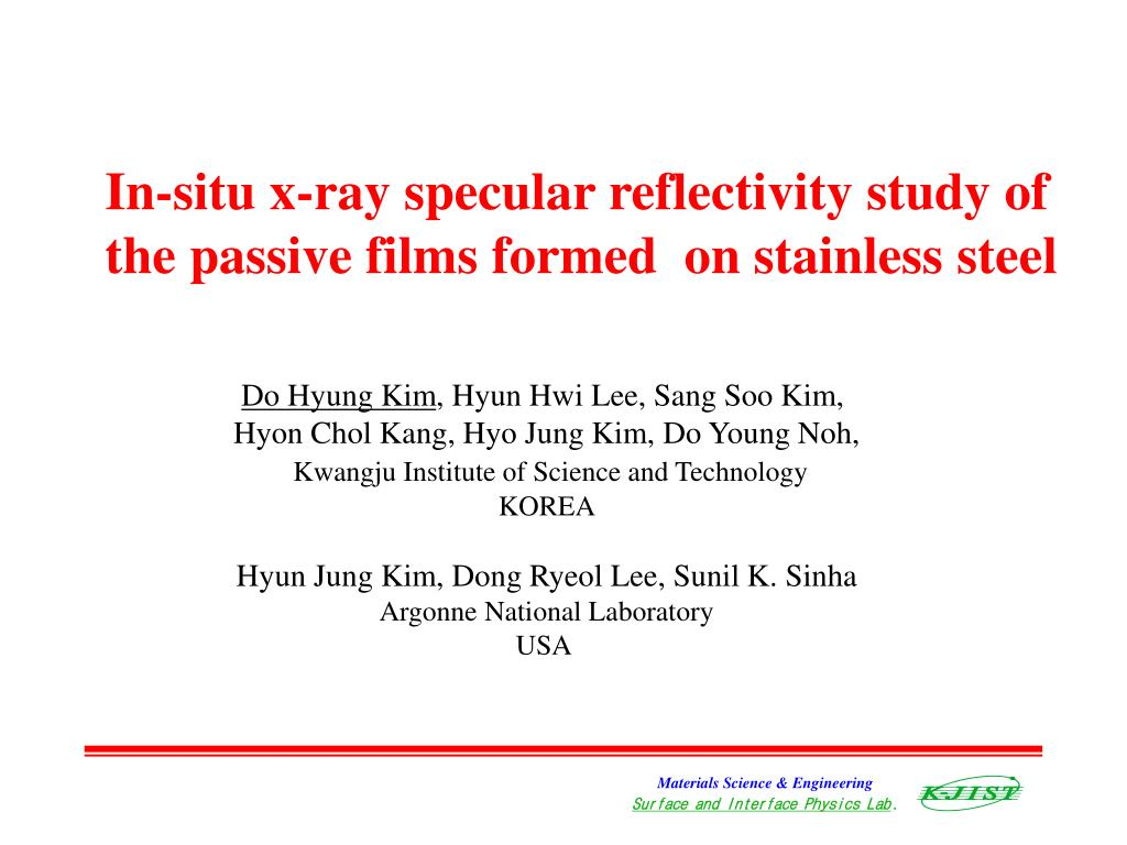 In-situ x-ray specular reflectivity study of