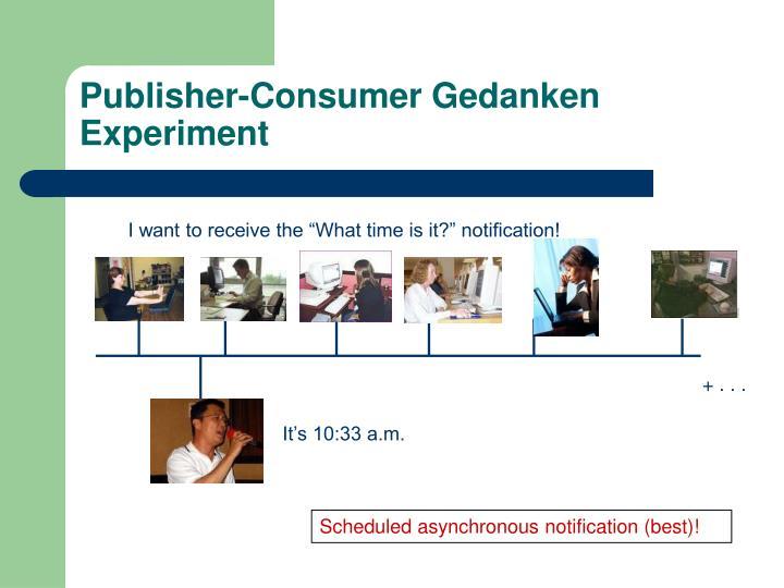 Publisher-Consumer Gedanken Experiment